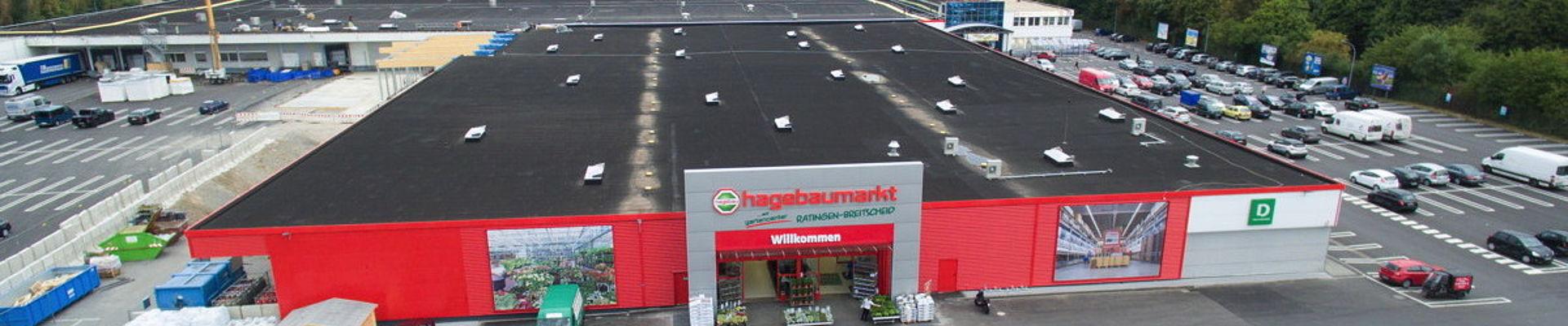 Eine großes Gewerbedach in Hattingen.