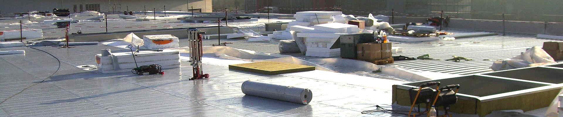 Dachbahnen aus Kunststoff.