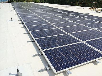 Solardach für einen Kindergarten