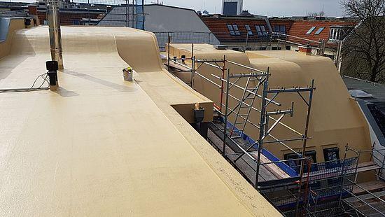 Flüssigkunststoffabdichtung zur Dachsanierung