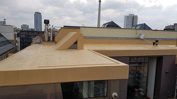 Flüssigkunststoff zur Dachabdichtung