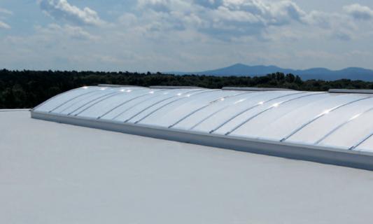 Dachabdichtung eines Industriedachs