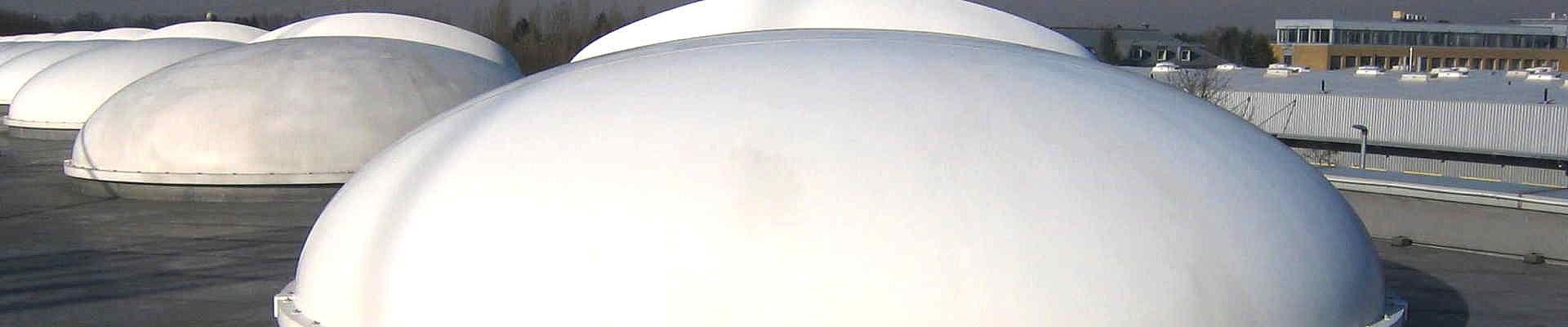 Lichtkuppeln sind Dachdurchdringungen