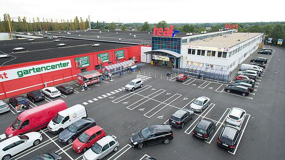 Flachdach REAL und Hagebaumarkt in Ratingen