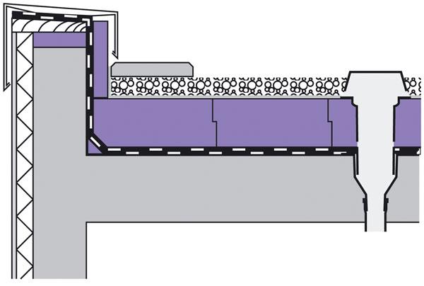 Bei einem Umkehrdach liegt die Dämmung auf der Abdichtungsschicht.